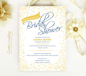 Elegant Bridal Shower Invitations cards