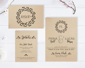 Simple wedding invitation kits