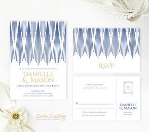 Royal blue invites
