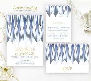 Royal blue invitations