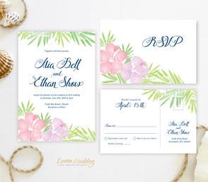 Hawaii wedding invitations
