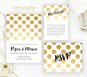 Printed wedding invitations cards