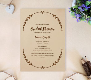 rustic themed save the dates invitations