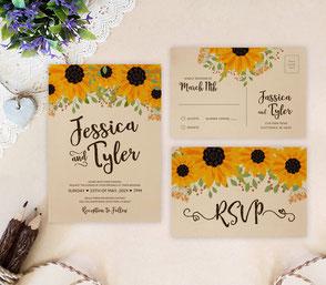 Farm wedding invitations and RSVP