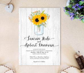 Cheap Mason jar wedding invitations