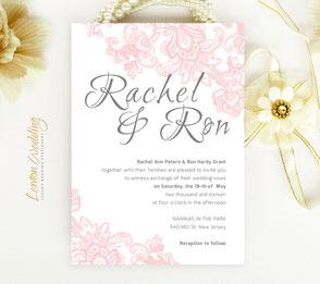 pink and white wedding invitations | blush pink wedding invitations