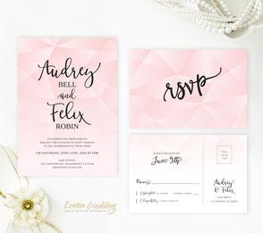 elegant wedding invitations | Lilac invitations