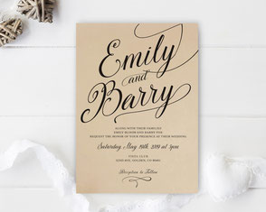 wedding invitations kraft