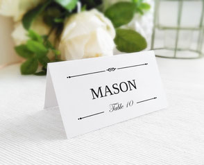 Formal wedding name cards