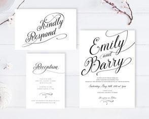 Traditional wedding invitations kits
