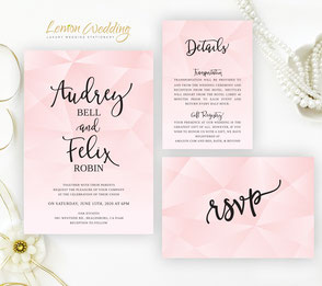 Rustic wedding invites | love bird themed