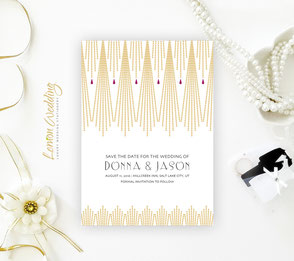 Gold Save the date invitations