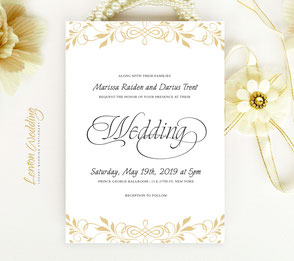 Traditional wedding invites