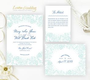 Nautical invitations | Beach themed wedding