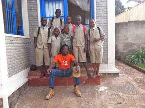 Unsere Schüler mit Eric Ndikumana