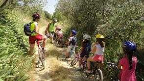 Projet scolaire Vélo à l'école vtt salagou Hérault