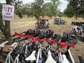 course d'orientation VTT hérault Salagou