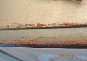 Detail einer Kommoden Platte