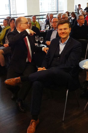 v.l.n.r.: Sebastian Brehm (MdB, CSU), Markus König (Stadtrat, Fraktionsvorsitzender der CSU und OB-Kandidat)