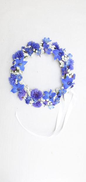 Blumenkranz Kornblumen Blau für Kopf