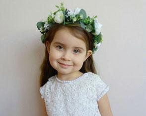 Blumenkranz Mädchen weiss Eukalyptus