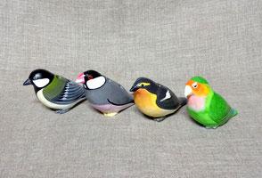小鳥の雑貨 シジュウカラ ジュウシマツ キビタキ コザクラインコ