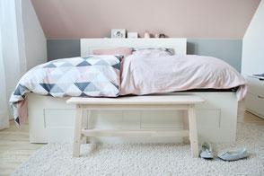 dieartige - Raumplanung, neue Raumgestaltung Schlafzimmer, Wolken in Rosé