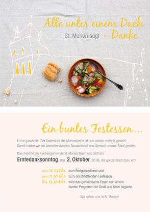 dieartige - Grafik | St. Marien Greifswald, Dachfest 2016
