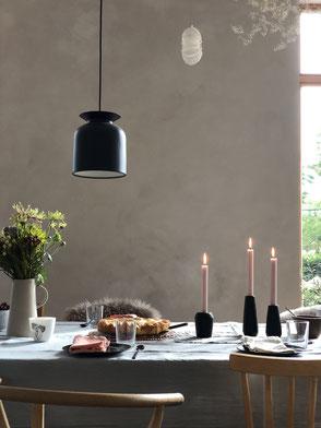 dieartige // Design Studio - neue Kalkfarbe an der Wand, kalklitir, tablesetting, Tischdeko