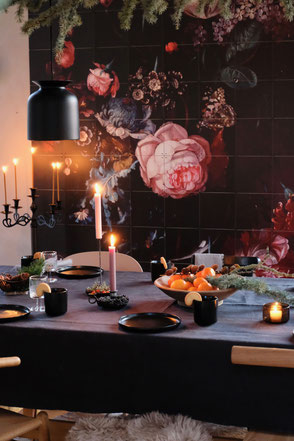 dieartigeBLOG - Esstisch Advent + diningroom winterdecor