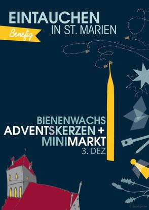 dieartige - Grafik | St. Marien Greifswald, Minimarkt2016