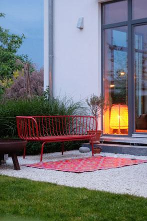 dieartigeGARTEN // das Neue: #Garten-Sofa #Brusen von #Ikea in #knallrot