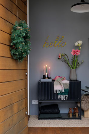 dieartigeBLOG - Eingangsflur Dezember + entre, hallway,winterdecor