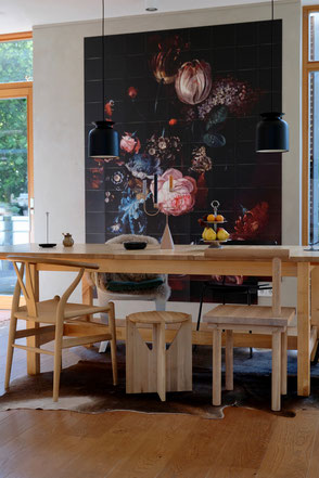 dieartigeBLOG - IXXI, Wandgestaltung, Essbereich / dining area, autumn