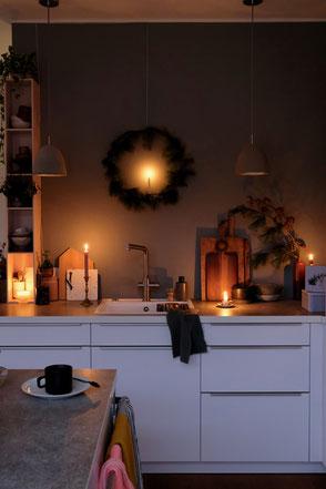 dieartigeBLOG - Küche Dezember + white kitchen winterdecor