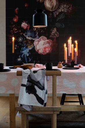 dieartigeBLOG - IXXI, Leinentischdecke+Kerzen, Essbereich / dining area, autumn