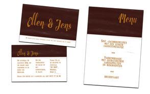 """Trouw uitnodiging """" Ellen en Jens"""""""