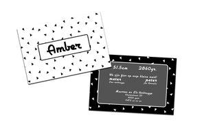 """Geboortekaartje """"Amber"""""""