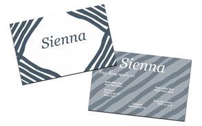 """Geboortekaartje """"Sienna"""""""