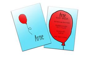 "Geboortekaartje ""Arne"""