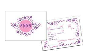 """Geboortekaartje """" Anna"""""""