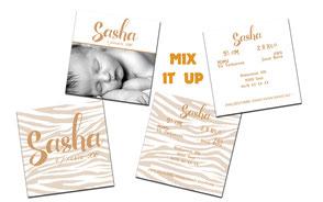 "Geboortekaartje ""Sasha"""