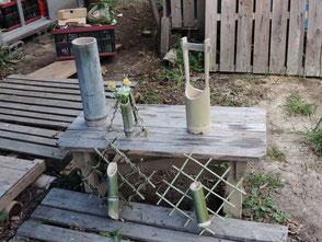 竹工作で作る花器の見本を作りました!