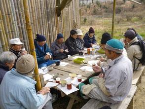 森のカフェの1月定例会開催風景