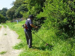 山田さんも精力的に草刈です!