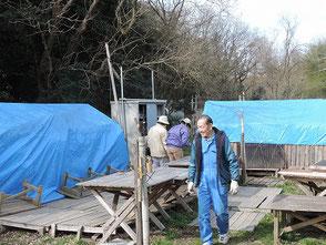 竹灯篭の保管場所、保管袋5個整理できました