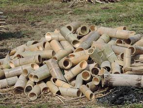 虫食いやカビが激しく処分する竹灯篭