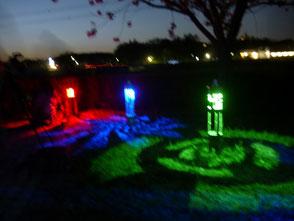 LEDライトを使った竹灯篭の幽玄な世界