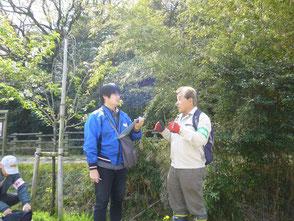 知多メディアスのインタビューを受ける木村会長