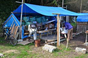 竹を活用する準備作業を行っています!